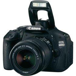 Aparat Canon EOS 600D + EF-S 18-55 mm IS II czarny