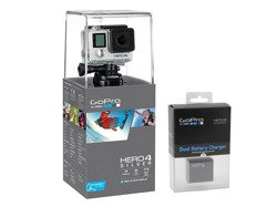 Kamera GoPro Hero 4 Silver Edition Adventure + DUAL BATTERY CHARGER