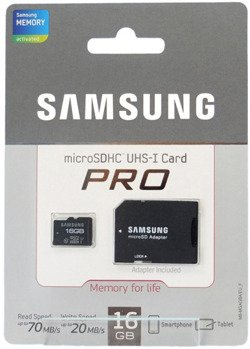 Karta pamięci Samsung microSD 16GB Class10 Pro