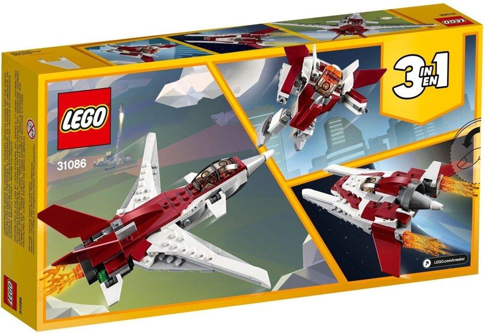 Klocki LEGO Creator - Futurystyczny samolot 3w1 - 31086