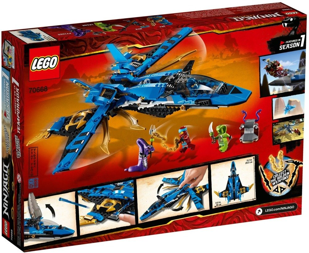 Klocki LEGO NINJAGO - Burzowy myśliwiec Jaya - 70668