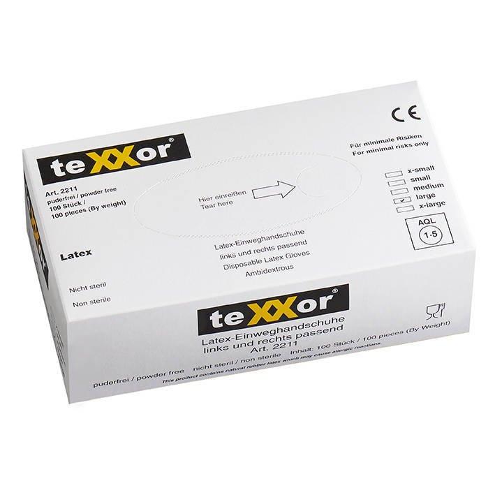 Rękawiczki jednorazowe lateksowe XL 100szt